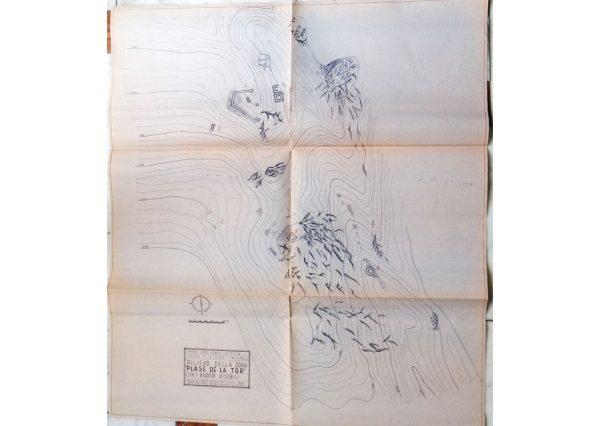 Planimetria dell'area. Rilievo geom. Ettore Coatti. ATS.